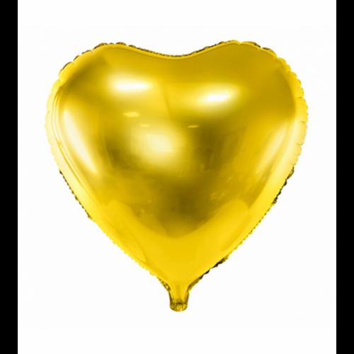 Folienballon Herz 45cm Gold inkl. Helium