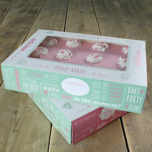 FunCakes Cake Box 2er Set - Quotes- 36x25x8cm