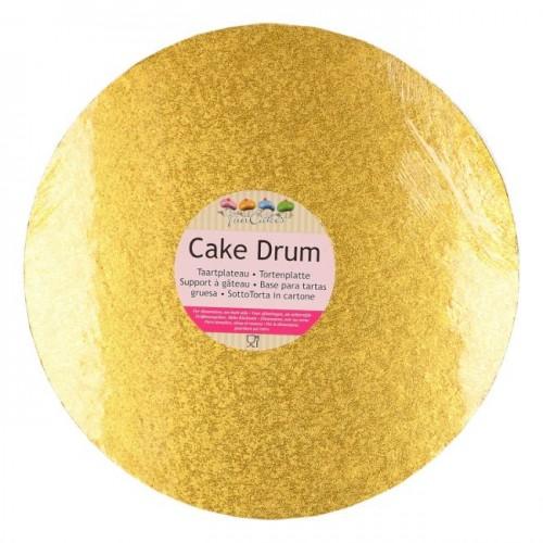 FunCakes Cake Drum Round Gold Ø25cm