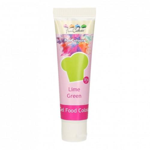 FunCakes Edible FunColours Gel - Lime Green 30g