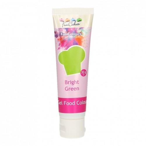 FunCakes Edible FunColours Gel - Bright Green 30g