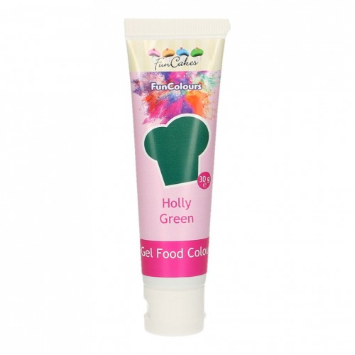 FunCakes Edible FunColours Gel - Holly Green 30g