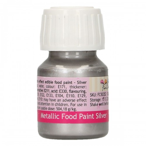 FunCakes FunColours Metallic Food Paint Silver 30ml