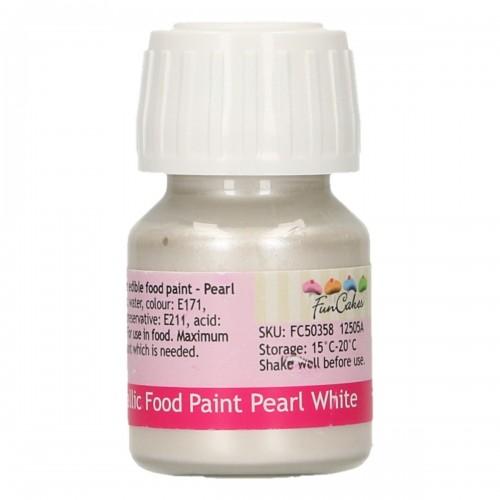 FunCakes FunColours Metallic Food Paint Pearl White 30ml