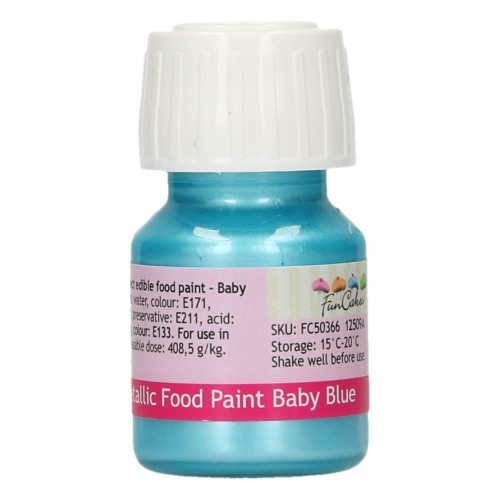 FunCakes FunColours Metallic Food Paint Baby Blue 30ml