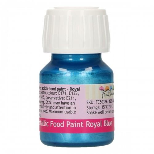 FunCakes FunColours Metallic Food Paint Royal Blue 30ml