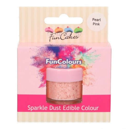 FunCakes Edible FunColours Sparkle Dust - Pearl Pink