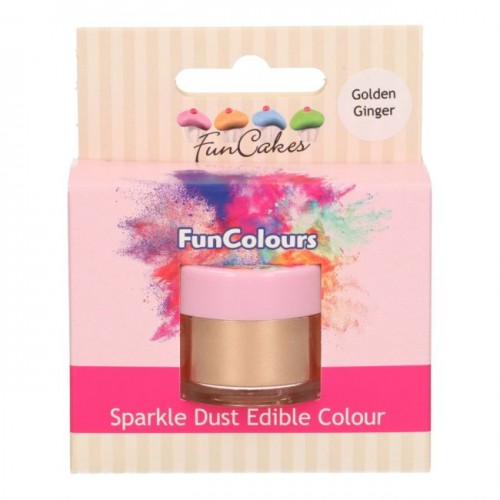 FunCakes Edible FunColours Sparkle Dust - Golden Ginger