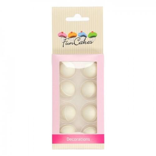 FunCakes Pearl Schokokugeln Weiß 8 Stück