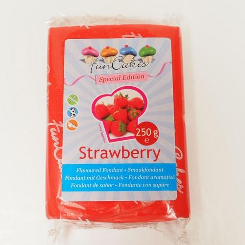 FunCakes Rollfondant - Erdbeere-Geschmack 250g
