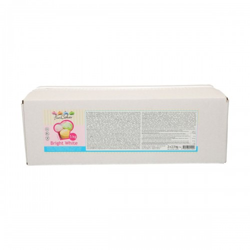 FunCakes Rollfondant - Bright White Vanilla 2 x 2,5kg