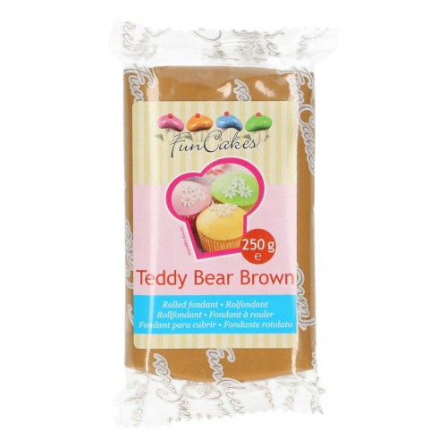FunCakes Rollfondant - Teddy Bear Brown 250g