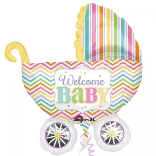 Ballon XXL KInderwagen Welcome Baby inkl. Helium