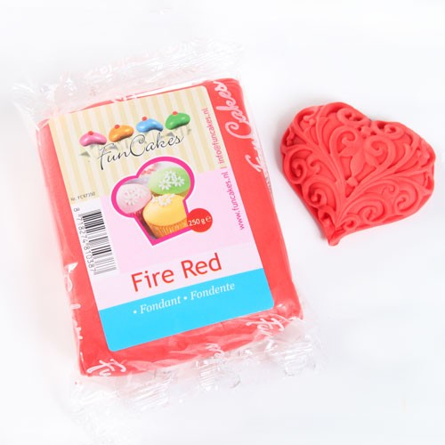 FunCakes Rollfondant - Fire Red 250g