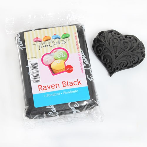 FunCakes Rollfondant - Raven Black 250g