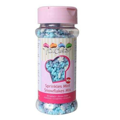 FunCakes Schneeflocken Mini-Mix 50g