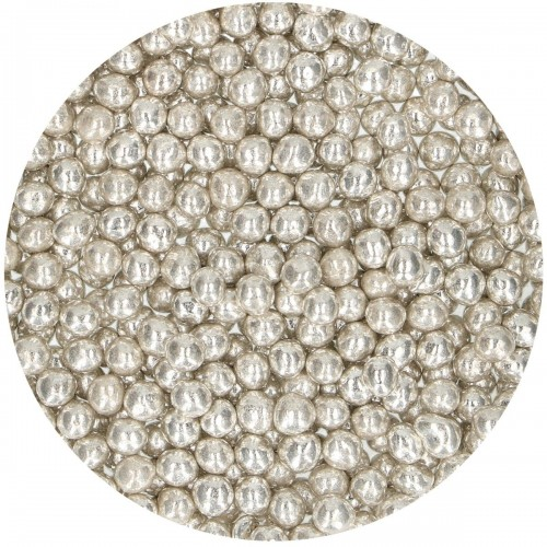 FunCakes Soft Sugar Pearls Metallic Silver 60g