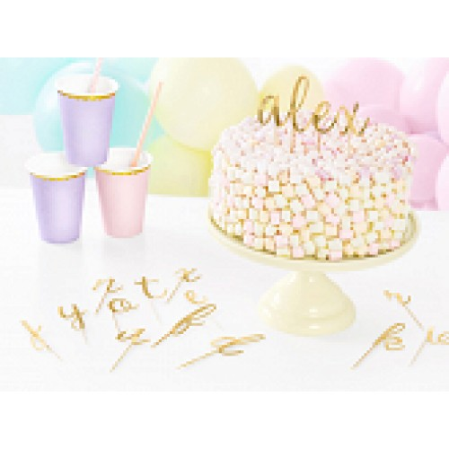 PartyDeco Topper Alphabet Gold
