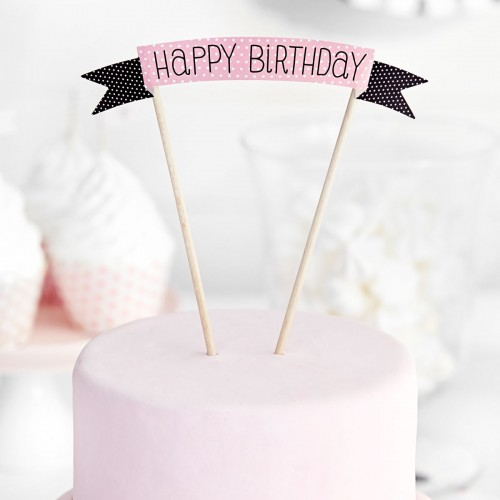 PartyDeco Topper Happy Birthday sweets