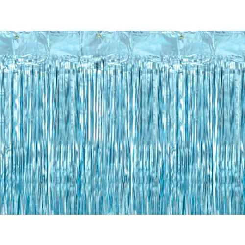 Glittervorhang - 2,5m - Hellblau