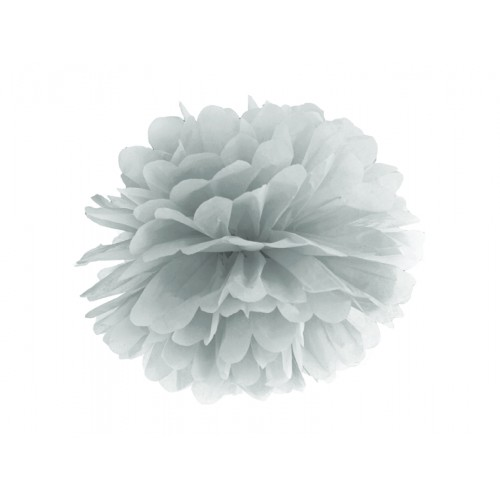 Pompom - Ø 35cm - Silber