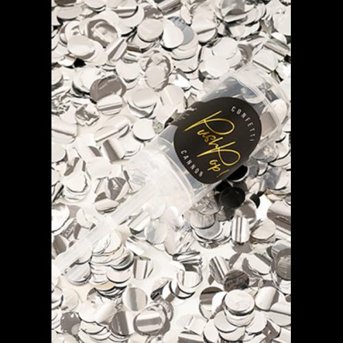 Konfetti Push Pop - Silber