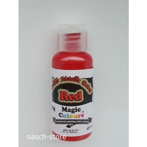Magic Colours Metallic Paints - Red 32g