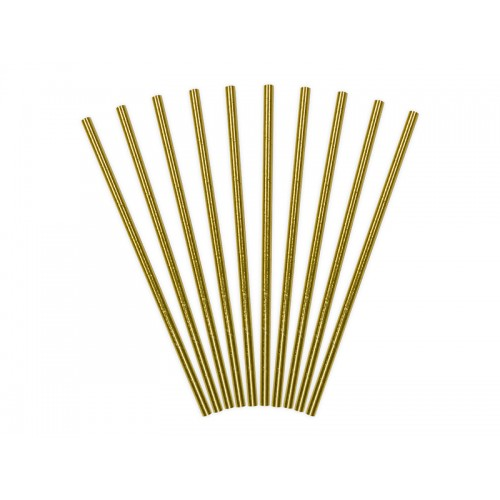 Papierstrohhalme - Gold
