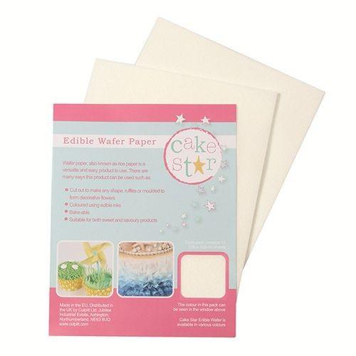 Cake Star Edible Wafer Paper -White- 12 Stück