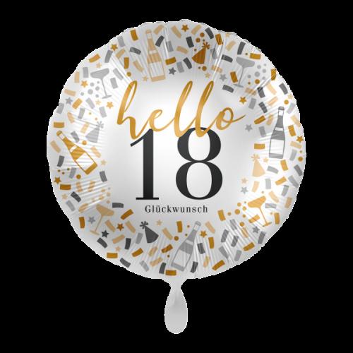 Ballon  Hello 18 inkl. Helium